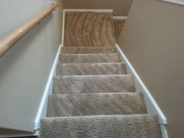 After Stairway Stain Removal